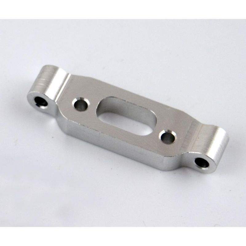 Hot Racing Silver Aluminum Rear Arm Mount: 18t [AET1008]