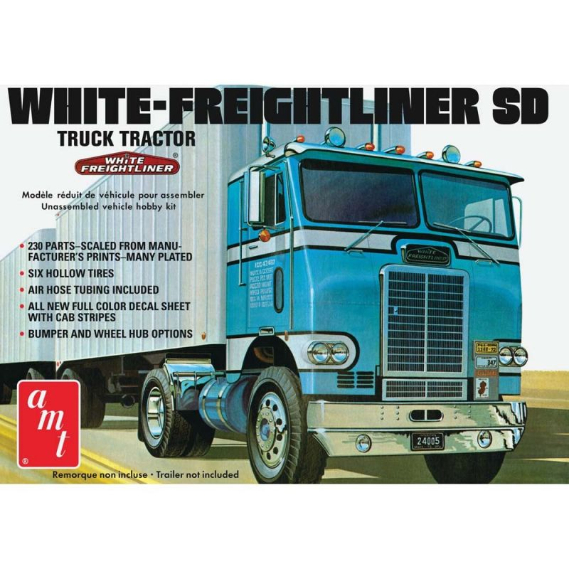 1/25 White Freightliner Single Drive Tractor