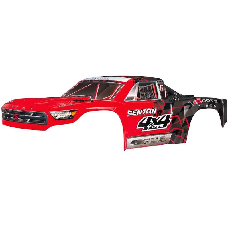 Body Painted Decal Trim Red Senton 4x4 Mega
