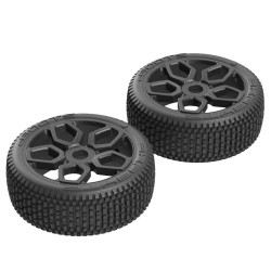 Exabyte NB Buggy Tire Set Pre-glued