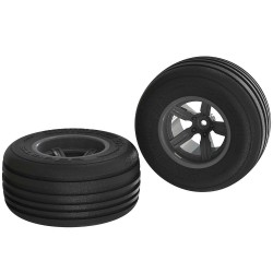 Dirt Runner ST Front Tire Set Glued Black (2)