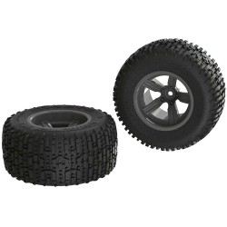 DiRTRunner ST Rear Tire Set Glued Black (2)