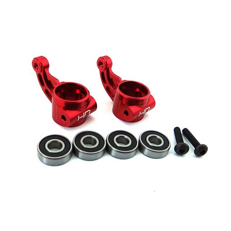 Aluminum Oversize bearing Knuckle (RED) - ARRMA 2WD