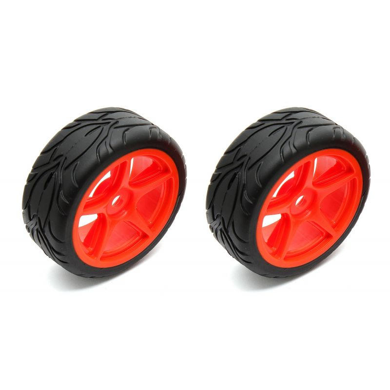5-spoke Wheels/Tires mounted orange (2)