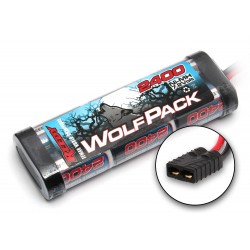 Reedy Wolfpack NiMH 6 Cell 7.2V 2400mAh Stick Pack Battery Traxxas Plug