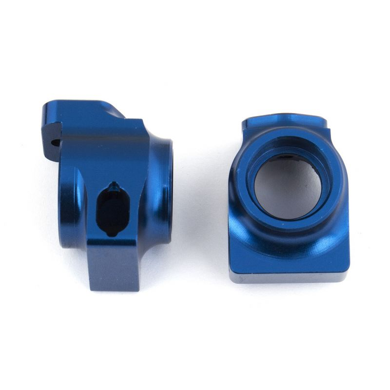 Associated B64 FT Blue Aluminum Rear Hubs [92098]