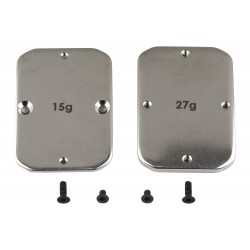 Associated B64 FT Steel Chassis Weights 15g 27g [92101]