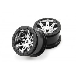 2.2 Raceline Renegade Wheels - 41mm Wide (Chrome/Black) (2pcs)