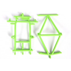 Axial Green Monster Truck Cage Roof & Hood