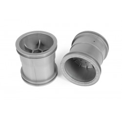 Axial 2.2 Monster Truck Wheels 63mm Silver (2)