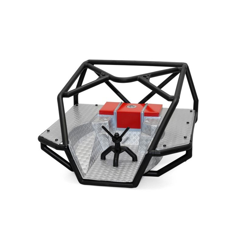 Axial Roll Cage w/ unpainted (clear) Flat Bed Scx10 [AX80046]