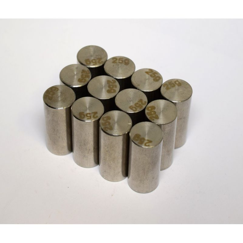Hot Racing 25g Stainless Steel Wheels Weights for BLW227DWN Wheels (12) [BLW227NW]