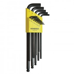 Ball End L-Wrench 13 piece Set .050 to 3/8 inch