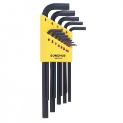 Hex L-Wrench Set 13 piece .050 to 3/8 inch