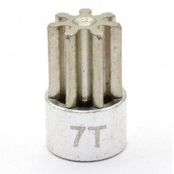 Silver 32 Pitch 7 Tooth Pinion Gear
