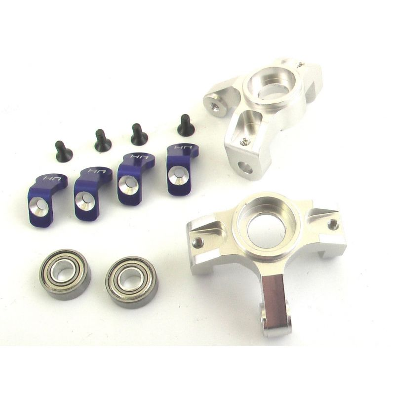 Hot Racing Silver Aluminum Front Steering Knuckles [CCR2108]