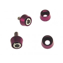 Purple Aluminum 3mm Conical Washers (4)