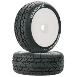 Bandito 1/8 Buggy Tires C3 Mounted White (2)