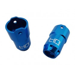 Blue Aluminum Rear Axle Tube Ends