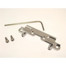 Hot Racing Silver Front shock mount xmod truck [EXT2808]