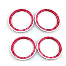 Red Aluminum Beadlock Rings