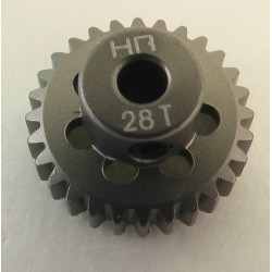 28T 48P Aluminum Pinion Gear 1/8 Bore