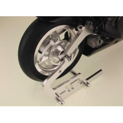 Silver Aluminum Motorcycle Stand