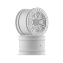 Split 8 Truck Wheels White (2) Crawler King