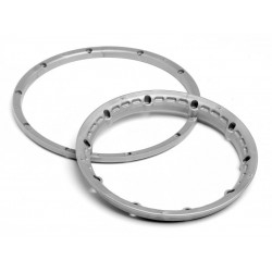 H/D Wheels Beadlock Rings Silver (2)