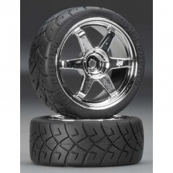 Mounted X-Pattern Tires D Compound TE37 0mm Offset (2)