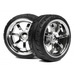 Mounted T-Grip Tires 26mm Rays 57s-Pro Wheels chrome