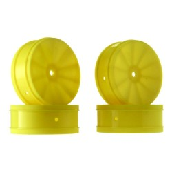 1/10 Bullet 60mm Front Wheels Yellow (4) B5/RB
