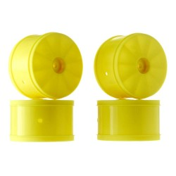 1/10 Bullet 60mm Rear Wheel Yellow TLR22/22-4 (4)