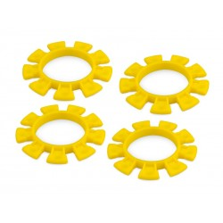 JConcepts Dirt Bands Tire Gluing Rubber Bands Yellow (4) [8115]