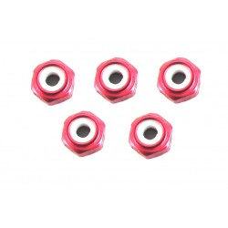 2mm Red Lock Nut (5)