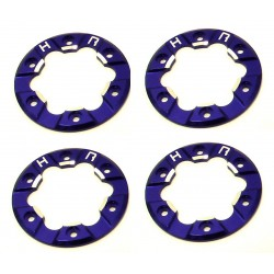 Aluminum Bead-Lock Ring (4)(Blue) - Losi Micro Crawler