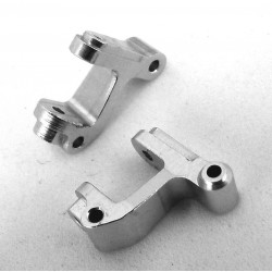 Blue Aluminum Front C-Hubs (Silver)(2) - Losi 1/36 Micro-T