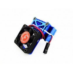 Clip-On Two-Piece Motor Heat Sink W/ Fan (Blue)