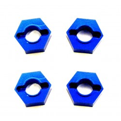 Blue Aluminum 8.4mm Hex Hubs (4)