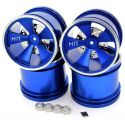 Hot Racing Blue Aluminum 5 Spoke Wheels (4)