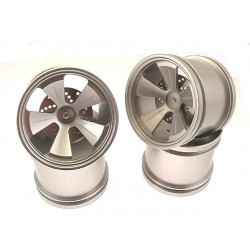 Silver Aluminum 5 Spoke Wheels (4)