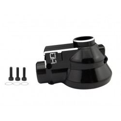 Hot Racing aluminum Front or Rear Differential gearbox case Nero [NRO1201]
