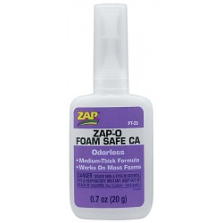 Zap Adhesives Zap-O Odorless CA+ Foam Safe Glue .7 oz