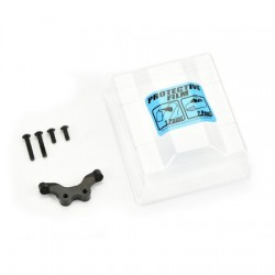 Clear Front Wing & Black Anodized Aluminum Mount: TLR 22 3