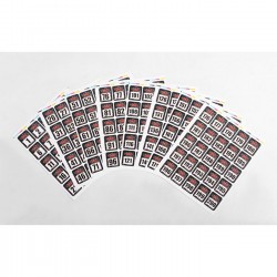RC4WD RC4WD Event Numbers Decal Sheets 1-200 [Z-L0090]
