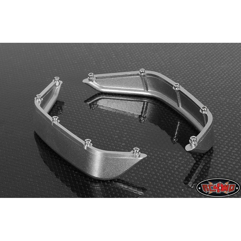 RC4WD Aluminum Tube Rear Fender Jeep Rubicon Silver