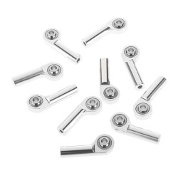 RC4WD M3 Offset Long Aluminum Rod Ends Silver (10)