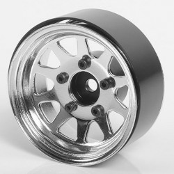 OEM Stamped Steel 1.55 Beadlock Wheels (Chrome) (4)