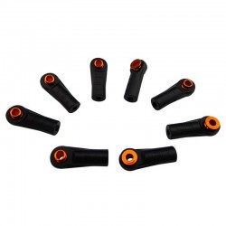 Straight Rod End Cups with 5.8mm Balls (8)(Orange)
