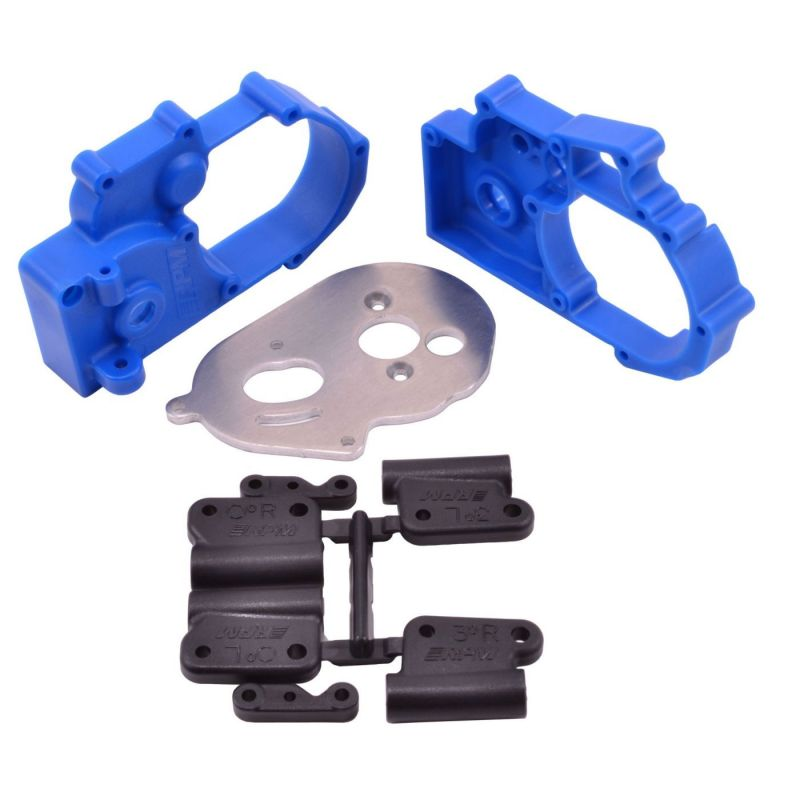 RPM Hybrid Gearbox Housing/Rear Mounts Blue